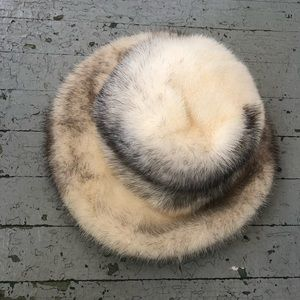 Vintage 1950's Mink/Ermine Fur Hat